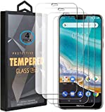 Ycloud 4 Pack Verre Trempé pour Nokia 7.1 (2018), HD Transparent Screen Protector [Anti-Rayures]...