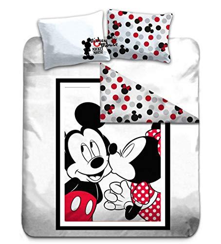 Gamesland Disney - Parure de lit 200X200 - Mickey & Minnie '100% Cotton'