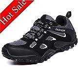 Zphy Resistente al Agua de excursión los Zapatos for Hombre de Formadores Anti Slip Ligeros Calzado Zapatillas de Deporte al Aire Libre for Trekking Escalada Ejecución