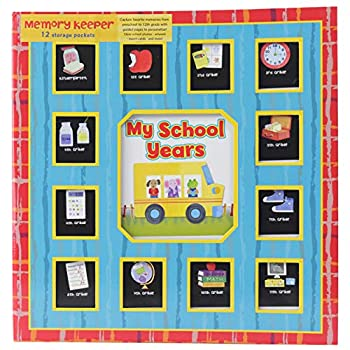 School Years Red and Blue Memory Keeper with Storage Pockets - Preschool to 12th Grade - PI Kids