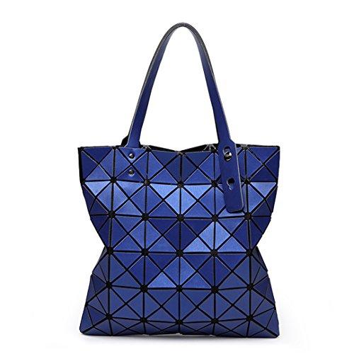 Matt Farbe Top-Griff Taschen für Frauen Handtasche Diamant Falten Bao Bao Tasche Geometrie Baobao Taschen schwarz Medium Bao blau