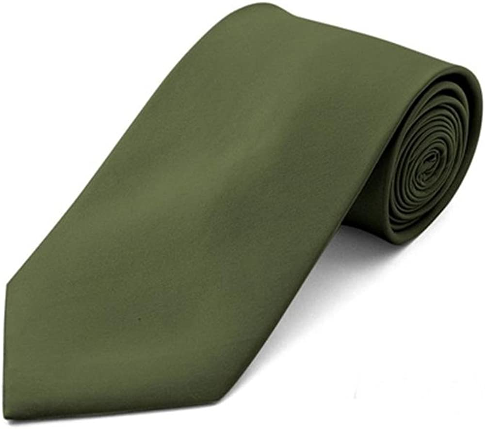Men's Classic Solid Color Wedding Neck Tie