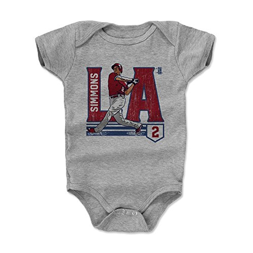 500 LEVEL Andrelton Simmons Los Angeles Baseball Baby Clothes & Onesie (3-24 Months) - Andrelton Simmons City