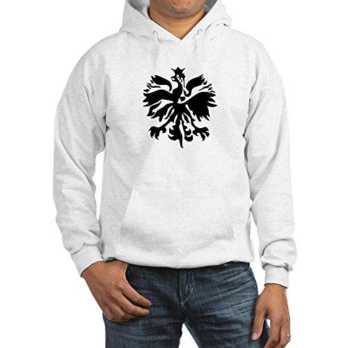 CafePress Polnischer Adler Pullover Hoodie Kapuzenpullover Gr. Medium, weiß