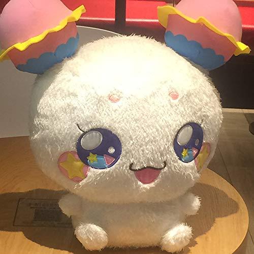 Mhtop Anime Star Twinkle PreCure Lovely Fuwa Stuffed Plush Toys Doll Soft Cute Plush Dolls Children Gifts for Kids Girls White