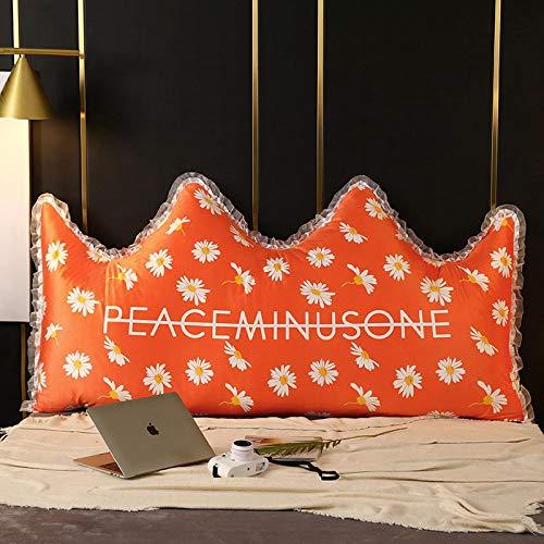 YLBH Cojín para mesita de noche, cama, respaldo grande, dormitorio, almohada extraíble y lavable, bolsa suave, cojín doble de dibujos animados Tatami 120 x 50 cm J