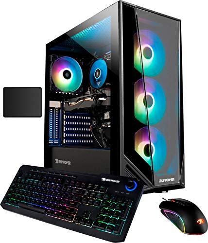iBUYPOWER Desktop Gaming Computer | Intel Core i7-10700F | NVIDIA GeForce GTX 1660Ti | 32GB DDR4 Memory | 1024GBSSD +1TBHDD | Mouse and Keyboard | Windows 10 | with Woov Mouse Pad Bundle