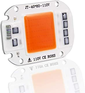DIY AC COB LED Grow Light Chip 110V Real Full Spectrum 380~780nm Actrual Power 50W Replace Sunlight for Indoor Plants