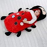 B/H Saco de Dormir de Algodón Unisex,Edredón de Invierno recién Nacido, Saco de Dormir Grueso para bebé-Ladybug_80 / 48