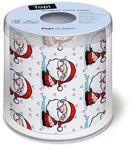 Toilettenpapier Rolle bedruckt Deep in love - Santa zieht blank