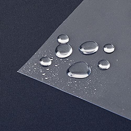 laro Tischfolie Tischdecke Transparent Durchsichtig Abwaschbar Garten-Tischdecke Tischschutz-Folie PVC Plastik-Tischdecken Wasserabweisend Eckig 0,3 mm Dicke Meterware |07|, Größe:100x180 cm