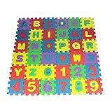 dontdo 36 piezas de rompecabezas con números del alfabeto para niños de espuma de arrastre, juguete educativo, rompecabezas del alfabeto, rompecabezas de 36 piezas # 12 cm