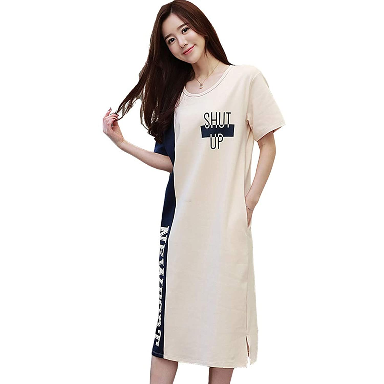 HEMERA.SETSU パジャマ ワンピース レディース 夏 半袖 かわいい ルームワンピース ネグリジェ 綿100% 部屋着 ルームウェア 寝間着 M-3XL