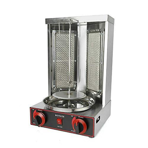 Kebab Machine à kebab électrique verticale avec interrupteur de réglage de la température, four, rôtisserie, gyroscopique, 3000 W