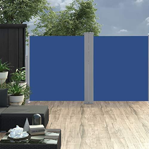WELLIKEA Ausziehbare Seitenmarkise Blau 160 x 600 cm