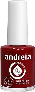 Andreia Halal Esmalte de Uñas Transpirable - Permeable Al Agua - Color B14 Roja - Sombras de Rosa   105 ml
