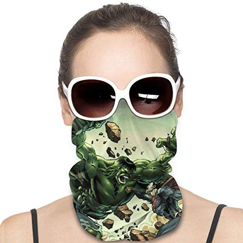 The Hu-lk Mask & Shield Face Mask Shield Protective For Men & Women Fashion Variety Head Scarf Balaclava For Dust, Outdoors, Sports