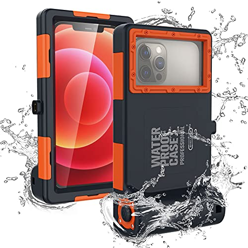 Waterproof Phone Case for iPhone Pro Max Samsung Diving Phone Case,Professional 50ft Surfing Swimming Snorkeling Photo Video Waterproof Protective Cover Underwater Diving Smartphones case with Lanyard