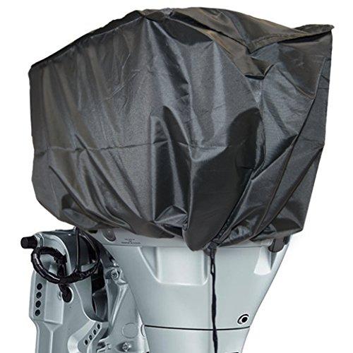 Bootsmotor Abdeckung Rib Schlauchboot Universal Außenborder Top Schwarz Wasserdicht 30x25x45cm LxBxH 300 Denier Qualitätsmaterial Außenborder