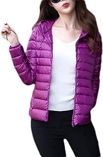 Macondoo Womens Outwear Packable Puffer Lightweight Jacket Warm Down Coat Jacket