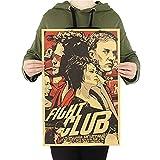 SUNMUCH Fight Club Kraftpapier Poster Filmposter, Retro,