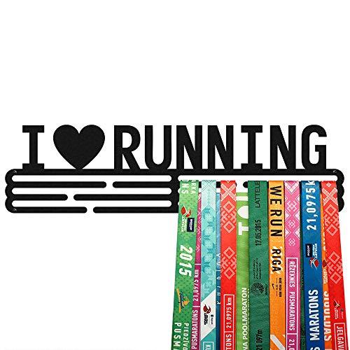 profesional ranking United I Love Running Medal – Soporte de acero pintado en polvo negro (3 varillas … elección