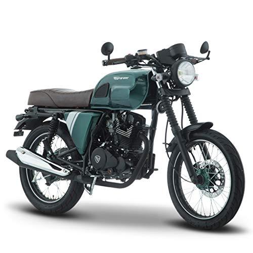 Motocicleta Italika de Cafe Racer- Modelo Sptfire 200 Verde Negro
