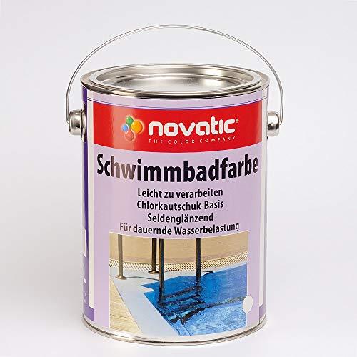 Novatic Schwimmbadfarbe, Blau 2,5 Ltr