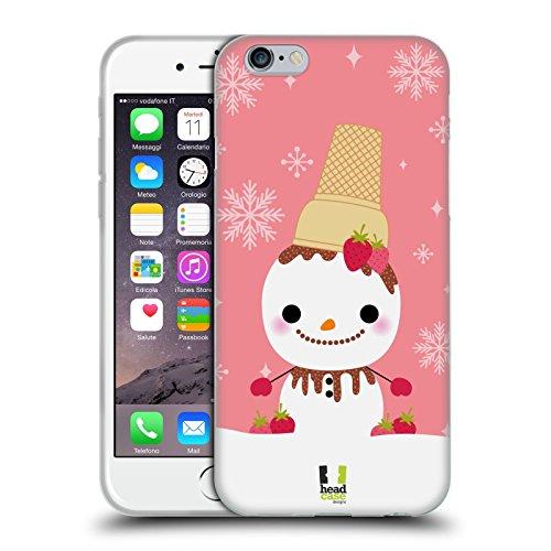 Head Case Designs Fresa De Choco Muñecos de Nieve Carcasa de Gel de Silicona Compatible con Apple iPhone 6 / iPhone 6s