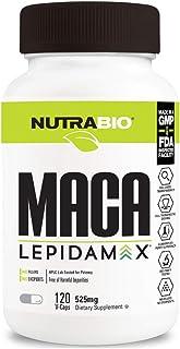 Nutrabio Maca 525mg (Lepidamax) - 120 Vegetable Capsules