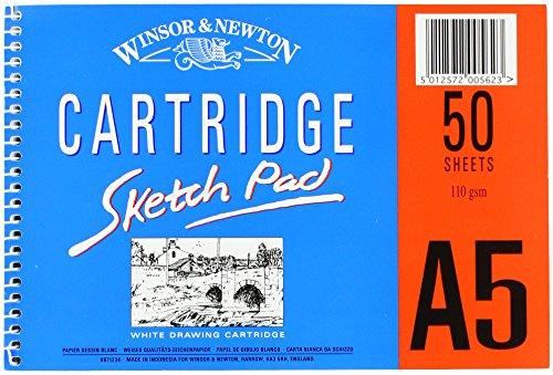 Winsor & Newton 6671234 spiralgebundener Skizzenblock, 50 Blatt - weiß, 110 g/m², DIN A5