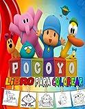 pocoyo libro para colorear: 50 grandes dibujos para niños