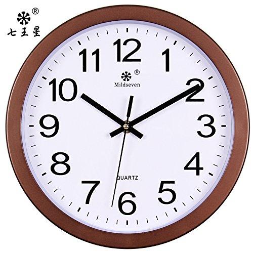 Komo Cichy nowoczesny cyferblat bez denerwującego tykania zegar kuchenny salon zegar ścienny metal sypialnia wyciszony modny zegar kwarcowy 10 Ø 25,5 cm kawa srebrny biały blat