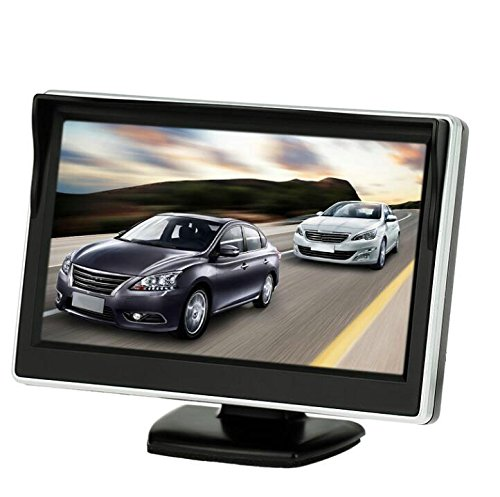 BW Monitor de coche de 5 pulgadas HD 800 x 480 a color TFT LCD Mini monitor de visión trasera de coche de aparcamiento para cámara inversa DVD VCD