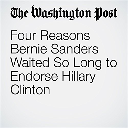 Four Reasons Bernie Sanders Waited So Long to Endorse Hillary Clinton audiobook cover art