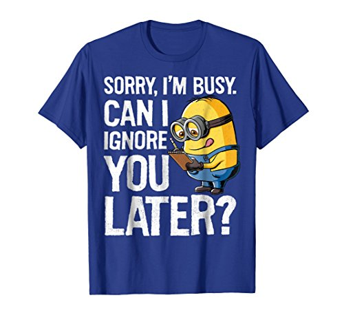 Despicable Me Minions Can I Ignore You Later Graphic T-Shirt