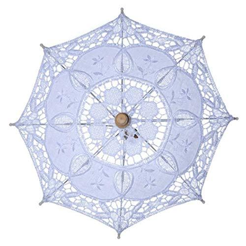 Justdolife Hochzeits Regenschirm Weinlese Dekorativer Spitze Regenschirm FüR Braut