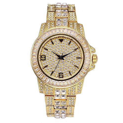 Reloj Diamond Diamond Watch con Reloj de Hip Hop Completo pa