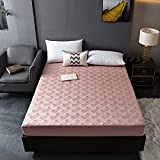 BOLO Protector de colchón, impermeable, a prueba de polvo, acolchado, grueso, cálido, lavable, almohadilla en relieve, para el hogar, 120 x 200 + 28 cm