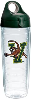 Tervis Vermont Catamounts Insulated Tumbler with Emblem and Hunter Green with Gray Lid, 24oz Water Bottle, Clear