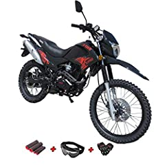 Hawk 250 Enduro dirt bike brought by Moto Pro. A stylish high performance exhaust pipe included on this bike is design to enhance both performance and style to the bike! Front 80/100-21 and Rear 110/100-18 Fat Tire, More Traction! Big Wheel, Huge Siz...