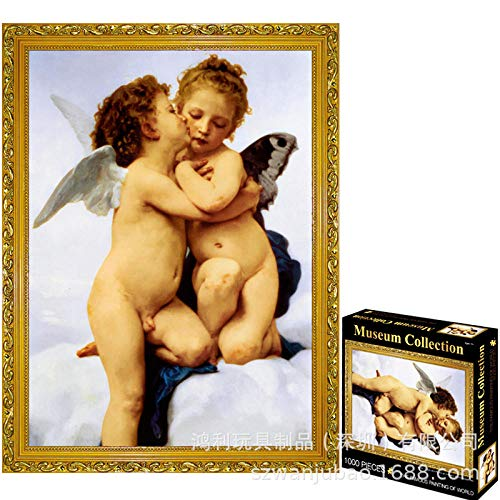 Oil Painting Class Piece Adult Puzzle Toy Creative Decompression Artifact Birthday Gift Piece Puzzle Cupid And Psyche (Chinese Version) 63152 10 1000 Tablets Frameless