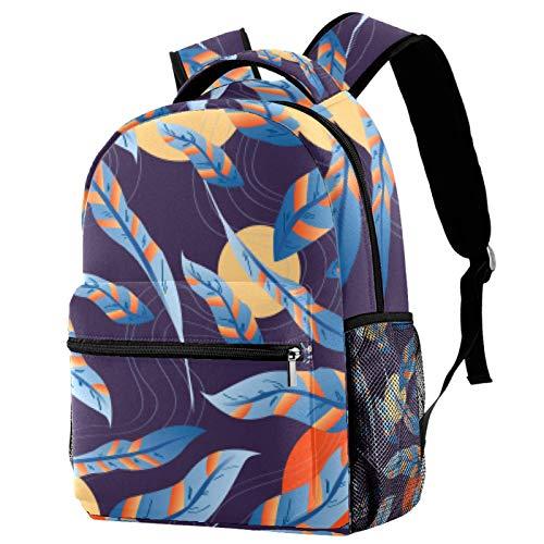 Rucksack mit schwebenden Mondfedern, Schultasche, Büchertasche, Wanderrucksack, Reiserucksack