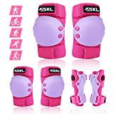 SKL Protective Gear Set for Kids/Youth, Knee Pads Elbow Pads Wrist Guards for Roller Skates Cycling BMX Bike Skateboard, Skating Skatings Scooter Riding Sports
