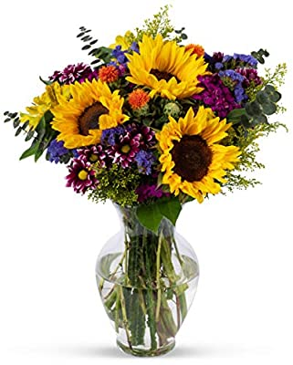 Benchmark Bouquets Flowering Fields, With Vase (Fresh Cut Flowers) from Benchmark Bouquets