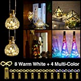Helian Wine Bottle Lights with Cork,DIY String Light Ornaments for Tables,Parties, bar...