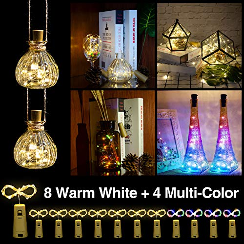 Helian Wine Bottle Lights with Cork,DIY String Light Ornaments for Tables,Parties, bar Decorations,...