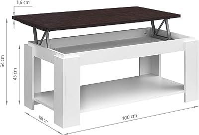 COMIFORT - Mesa de Centro Elevable con Revistero Incorporado ...