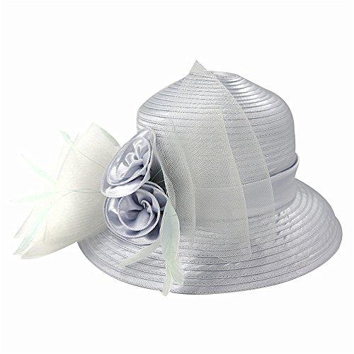 LTH-GD Gorra de Invierno y Sombrero Sombrero de Mujer Otoño e Invierno Sombrero de Tela estacional Sombrero de señora Turismo Sombrero Gris Plateado