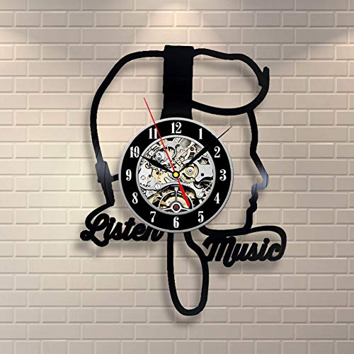 Wall Clock MomentVinyl A Undertakes To Hot Style Reloj de Pared